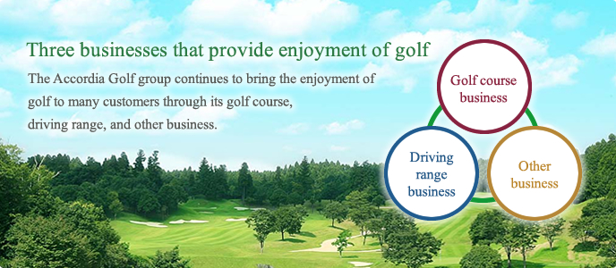 Three businesses that provide enjoyment of golf